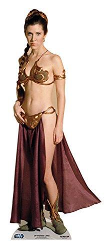 Star Cutouts Pappaufsteller von Leia Gold Bikini Palace Slave Girl