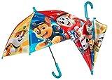 POS 30873088 - Paraguas con diseño de la Patrulla Canina, diámetro de 66 cm, Apertura Manual de Seguridad y Estructura de Fibra de Vidrio, compañero Ideal para días lluviosos