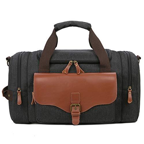 Yingm Borsa da Viaggio per la Casa Uomo d'Affari di Viaggio Borse Viaggio Resistente all'Uso Commerciale Imbottito Maniglia Messenger Bag Design Pratico (Colore : Black)