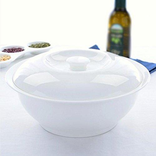 Liuyu Kitchen Home Large avec couvercle Soupe Bols Bol de soupe Sauerkraut bouillie Vaisselle en céramique Soup Pot Home (taille : A)