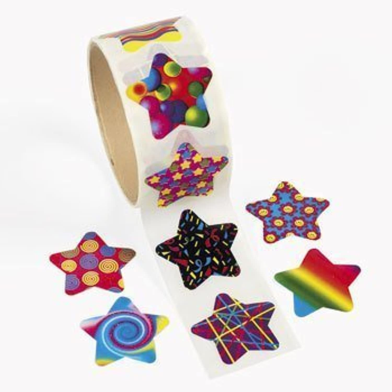 100 Funky Star Roll Stickers by OTC B017A38HUE Qualität und Quantität garantiert   | Treten Sie ein in die Welt der Spielzeuge und finden Sie eine Quelle des Glücks