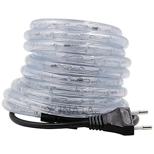 LMIAOM 220V LED for la tira del LED Luz de la cuerda redonda de dos hilos IP68 a prueba de agua del tubo flexible de luces RGB blanco caliente 1m 5m 10m 20m 50m 100m Nueva barra de luz LED