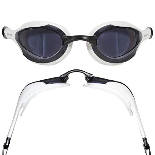 blueseventy Contour Goggle - for Triathlon, Pool and Open Water Swimming (White, Smoke)
