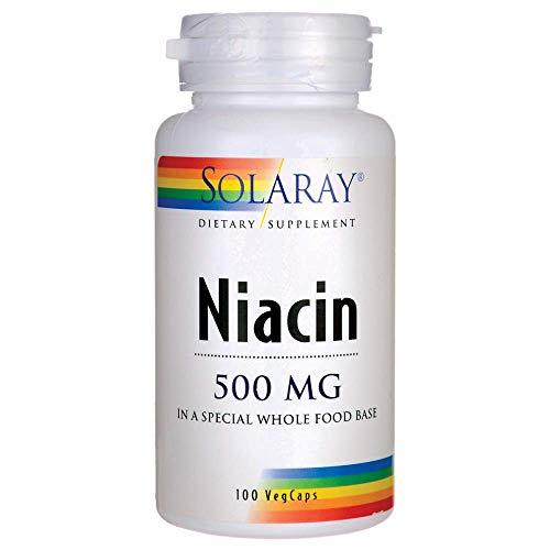 Solaray Niacin 500 mg, Vitamin B3   Skin Health, Cardiovascular, Nervous System & Circulation Support   100ct