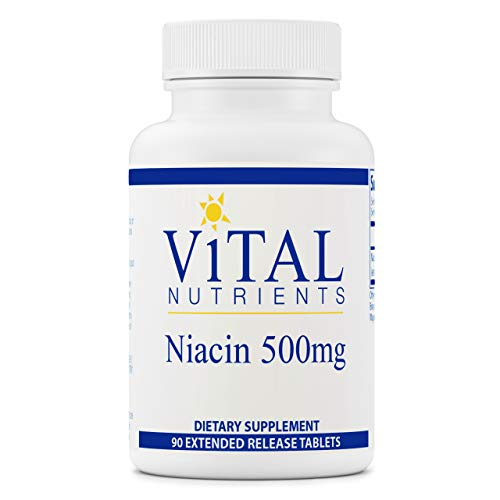 Vital Nutrients - Niacin - 90 Extended-Release Tablets per Bottle - 500 mg
