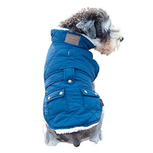 kyeese Small Dog Jacket Winter Coats Fleece Lined Warm Adjustable Dog Vest with Leash Hole