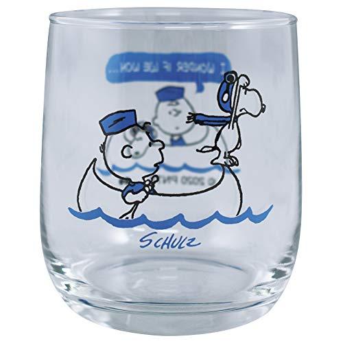 大西賢製版 PEANUTS グラス BOAT BL サイズ:約W6.9 D6.9 H8.2 PE-601