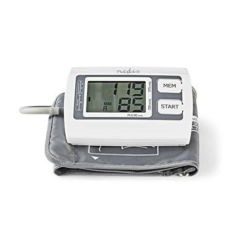Nedis - Bloeddrukmeter voor Bovenarm - Groot LCD - 2 x 60 Geheugen - Automatisch Uitschakelen - Onregelmatige Hartslagdetectie - Automatisch Oppompen - Boven- en Onderdruk en Hartslag