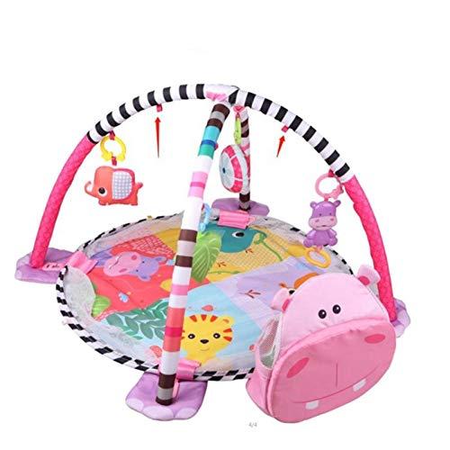 Misis Alfombra para Gatear para bebés Alfombra de Juego para niños 3 en 1 con 4 Divertidos Juguetes Colgantes para habitación de bebé, Dormitorio, Sala de Estar, etc.
