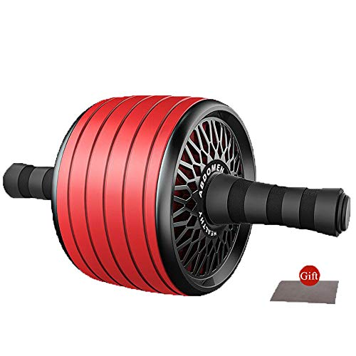 One plus one Ab Roller Exercise Wheel, Wider AB Roller for Noiseless...