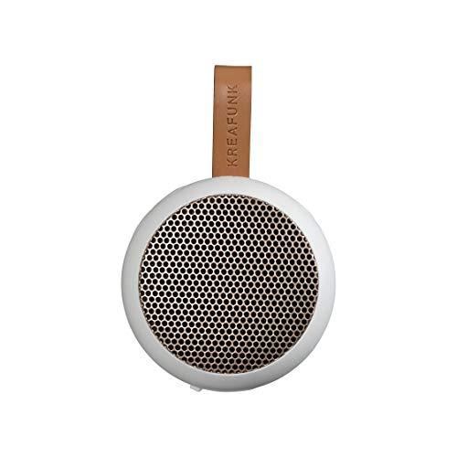 KREAFUNK aGO, tragbarer Taschen-Bluetooth-Speaker, Passive Lautsprecher-Box (weiß/roségold)