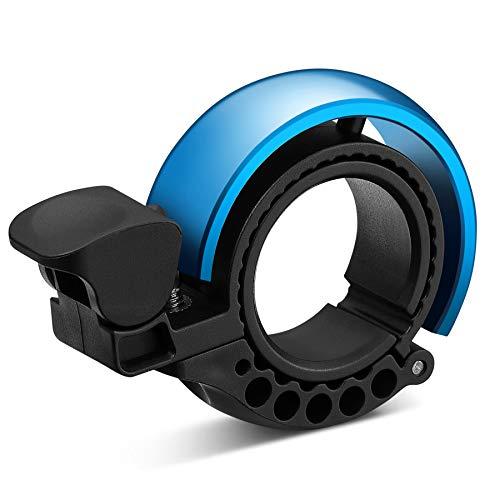 Malker Fahrradklingel,2020 Aluminiumlegierung O-Design Innovative Fahrrad Ring, klaren Sound Fahrradklingeln,ür Lenker von 22,2 bis 31.8mm(Blau)