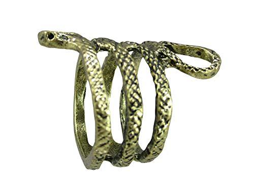 shoperama Rring Serpiente Oro Accesorios para disfraz de Egipto Kleopatra joyas Egipto faraonina