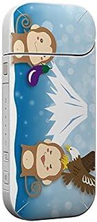 IQOS 専用スキンシール 裏表2枚セット 保護フィルム ステッカー デコ アクセサリー デザイン おしゃれ 富士山 動物 猿 009535