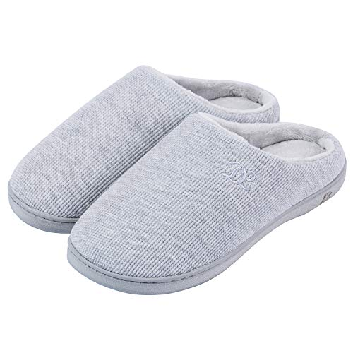DL Womens Memory Foam Slippers, Slip on House Slippers for Women Indoor Outdoor, Women's Bedroom Slippers Non-Slip Hard Sole, Warm...