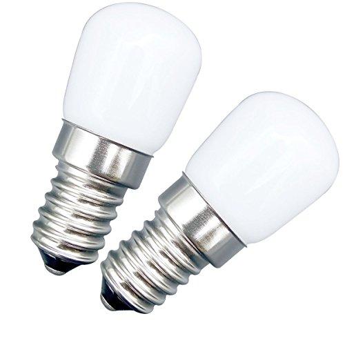 MZMing [2 Unidades E14 Bombilla LED 2W Bombilla Nevera - Replacement para Lámpara de Halógeno de 20W Blanco Frío 6000k 180lm - Bajo Calorías Usado para Nevera/Maquina de Coser