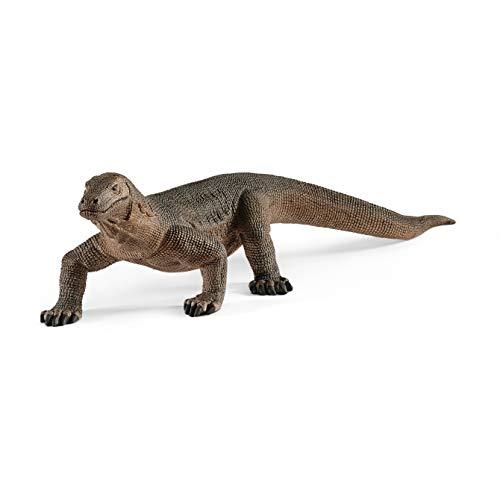 Schleich- Figura de Dragón de Komodo, Colección Wild Life, 15.60 cm (14826)