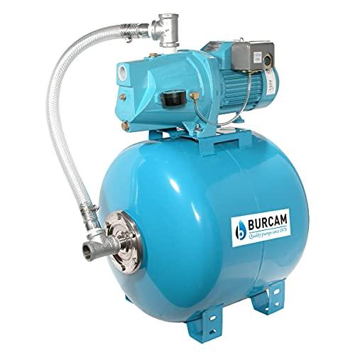BURCAM 506128S 1/2 HP Cast Iron Shallow Well Jet Pump System, Blue