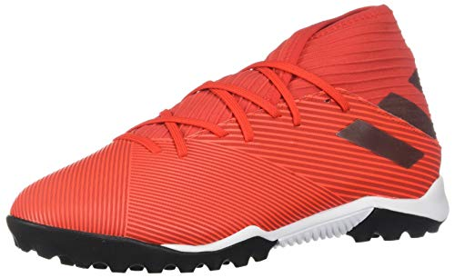adidas Men's Nemeziz 19.3 Turf Soccer Shoe, Active Red/Silver Metallic/Solar Red, 10.5 M US