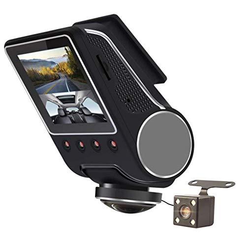 YOUANDMI 360 Grados WiFi Camara Vigilancia Coche,1080P Full HD Dual CAM Camaras para Coches Grabadora con IR Visión Nocturna&G-Sensor&Detector Movimiento - Videocamara/Dashcam,NoSDCard