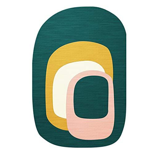 QYQS Grill Bodenschutzmatte, Ovale Stuhlbodenmatte, Bürostuhlmatten Für Studienraum, Garderobe, Balkon, Wohnzimmer, Schlafzimmer(Size:80x120cm/31x48in)