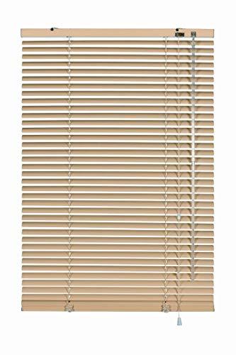 erfal Aluminium-Jalousie Wand- und Deckenmontage, inklusive Montage-Teile, Alu-Jalousie für Fenster und Türen B = 80 cm x H = 175 cm beige
