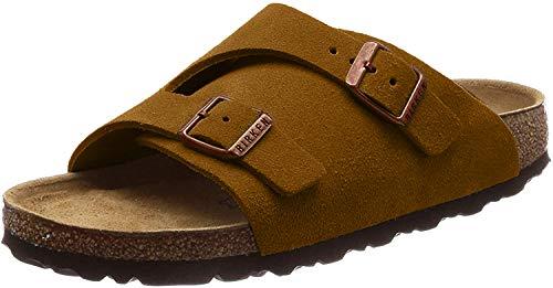 Birkenstock Zrich Suede Leather Soft-Footbed Narrow Mink Size EU 38 - US L7 M5