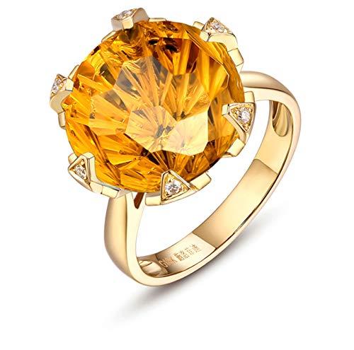 Blisfille Anillo Compromiso Mujer Oro Blanco y Diamantes Joyería Anillo 18 Kilates de Diamante Anillo de Oro,Talla de 6,75 (Tamaño Personalizable)