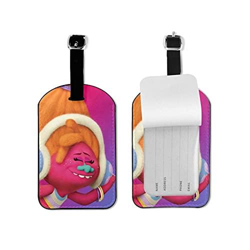 T-Ro-Ll-S Etiquetas de equipaje Maleta Etiquetas de equipaje Titular de tarjeta de visita Bolsa de identificación de viaje Etiqueta de maleta de viaje