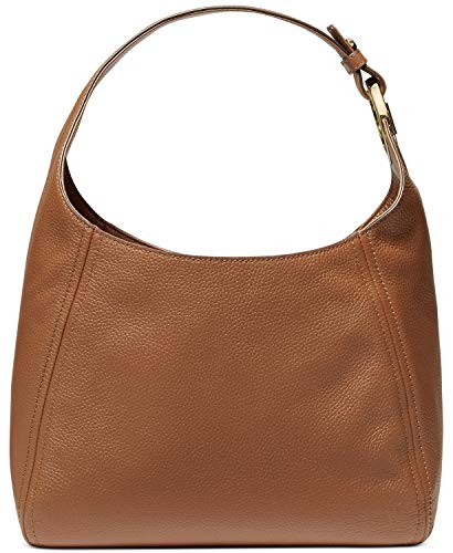 "Medium sized bag; 13""W x 12""H x 4-1/4""D (width is measured across the bottom of handbag) 10""L strap. Zip closure Gold-tone exterior hardware interior zip pocket & 7 slip pockets Leather"