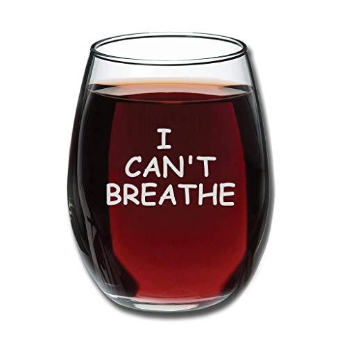 Bohohobo Libbey - Copa de vino sin tallos I Can't Breathe 12 onzas para vinos rojos y blancos, apta para lavaplatos, regalo cálido para boda blanco 350 ml