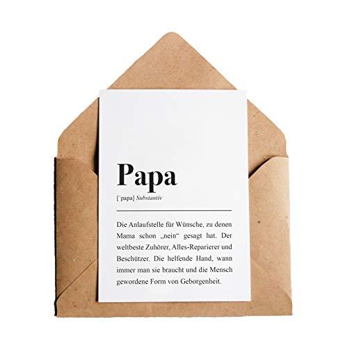 Grußkarte Papa: DIN A6 Karte mit Umschlag