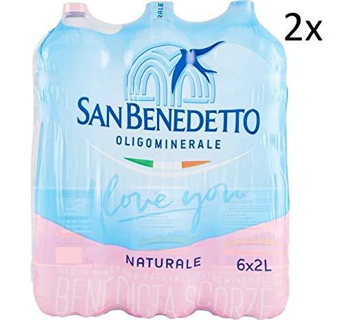 12x San Benedetto Acqua Minerale Naturale Natürliches Mineralwasser 2Lt Italienisches Wasser