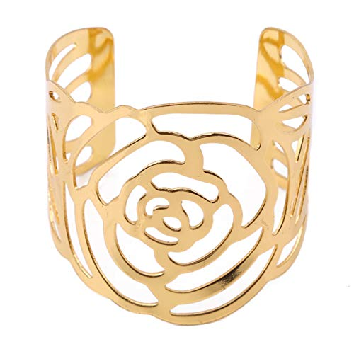 Generic Liangwan Servilletero de metal fijo decorativo mesa de comedor anillo de flores boda banquete decoración accesorios