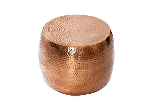 DuNord Design salontafel schaal 60 cm koper gehamerd ontwerp bank tafel