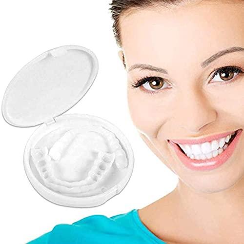 ZAIYI Reutilizable Carillas Instantáneas Dentadura, Superior E Inferior para Adultos Smile Blanqueamiento de la Dentadura Fit Flex Cosmetic Teeth Dientes Cosméticos