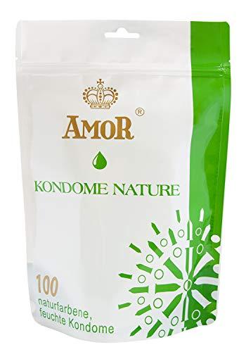 AMOR Nature Premium Kondome, 100 Stück, gefühlsecht und extra feucht