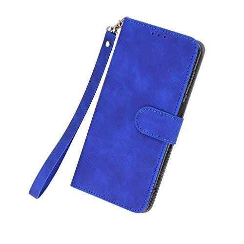 BRAND SET Hülle für Samsung Galaxy A32 5G Leder Handyhülle Kunstleder Flip Hülle mit Sicherer Magnetverschlussverriegelung Handy Lanyard Klappbar Schutzhülle für Samsung Galaxy A32 5G(Blau)