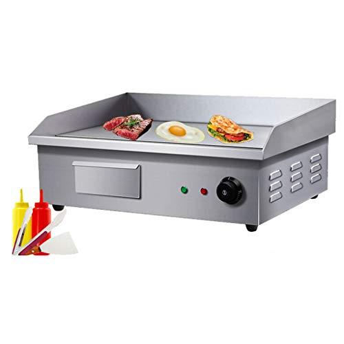 Elektrische koekenpan, commercieel teller, roestvrij staal, kookplaat, keukengrill, 3 kW braadpannen Burger Speck Ei friteuse grill, 3kW