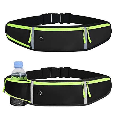 Löparbälten midjeväska för kvinnor män med vattenflaskhållare vattentät magväskor för löpning träning utomhussport cykling resor löpning midjebälte