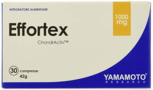 Yamamoto Research Effortex® integratore alimentare sviluppato intorno all'esclusiva miscela ChondrActiv™ che apporta collagene, condroitinsolfato e acido ialuronico 30 compresse