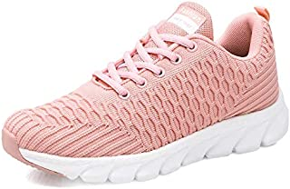 ZJSWIN Women's Shoes, Versatile, Lightweight Women's Shoes, Casual Shoes, Fashion Shoes, Women (Color : Pink, Size : 38EU)