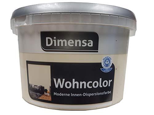 Dimensa Wohncolor Wandfarbe Moderne Innen- Dipersionsfarbe Matt Farbwahl 2,5 Liter, Farbe:Havanna