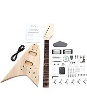 Rocktile - Guitare électrique Double Cutaway en kit à monter soi-même - Modèle 00038310 - En bois de tilleul, d'érable et en palissandre - À visser