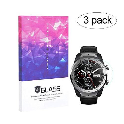 BECEMURU Ticwatch Pro - Protector de Pantalla para Ticwatch Pro Smartwatch (3 Unidades)