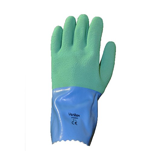 Handschuh Latex Garten Crepe grün extra stark