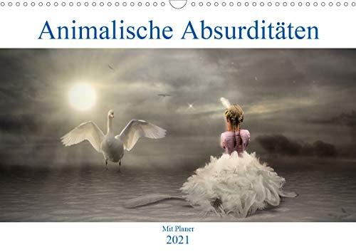 Animalische Absurditäten mit Planer (Wandkalender 2021 DIN A3 quer)