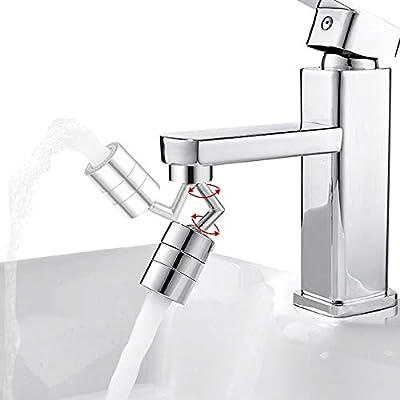Faucet Aerator, 720° Big Angle Swivel Sink Faucet Aerator, Splash Filter Faucet Kitchen Faucet Attachment, 2 Mode Water Flow Aerator Bathroom Spray Aerator Head for Eye Flush, Face Washing, Gargle