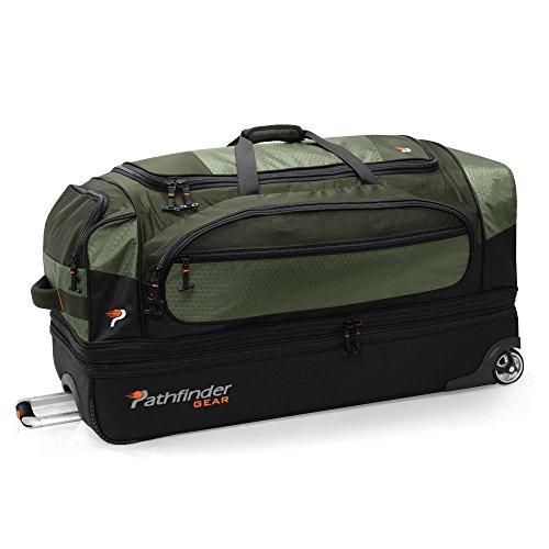 Pathfinder Gear 36 Inch Rolling Drop Bottom Duffel, Olive, One Size
