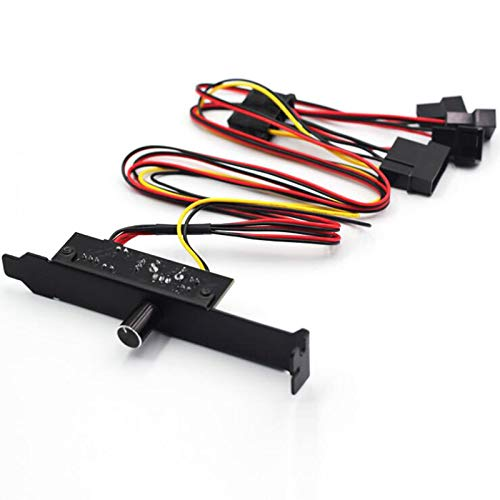 Ctzrzyt Chassis Fan Speed Controller PCI Bit Fan Controller Hub Desktop Computer Fan Speed Controller Supports 3 / 4Pin